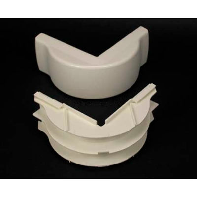 """Wiremold 2318DFO-WH Divided FiberReady External Elbow, White, 5""""L"""