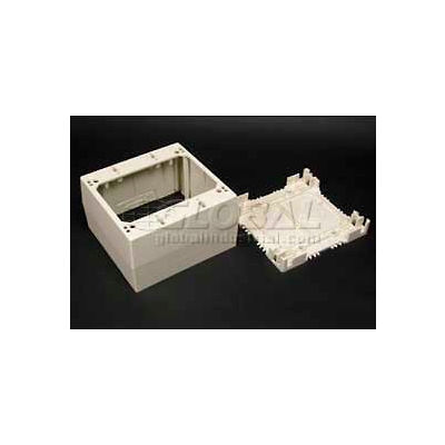 """Wiremold 2344-2-Wh 2-Gang Extra Deep Device Box, White, 4-3/4""""L"""