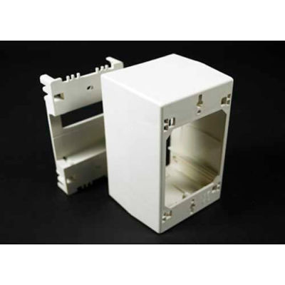 """Wiremold 2344d-Wh 1-Gang Extra Deep Divided Device Box, White, 4-3/4""""L"""