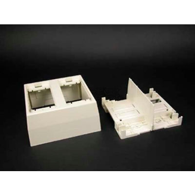 """Wiremold 2344sd-2awh 2-Gang Deep Divided Device Box, White, 4-3/4""""L"""