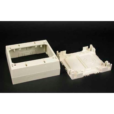"""Wiremold 2348-2-Wh 2-Gang Deep Device Box, White, 4-3/4""""L"""