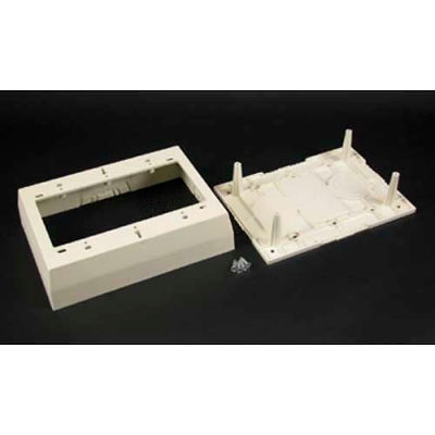 """Wiremold 2348-3 3-Gang Deep Device Box, Ivory, 4-3/4""""L"""