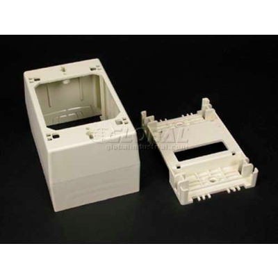 """Wiremold 2348 1-Gang Deep Device Box, Ivory, 4-3/4""""L"""