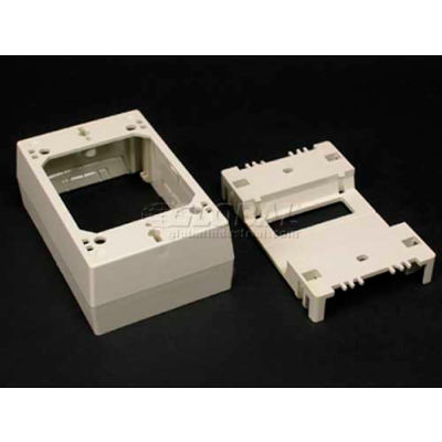 """Wiremold 2348d-Wh 1-Gang Divided Device Box, White, 4-3/4""""L"""