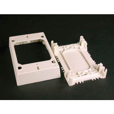 """Wiremold 2348s/51-Wh Shallow Device/Extension Box, White, 4-3/4""""L"""