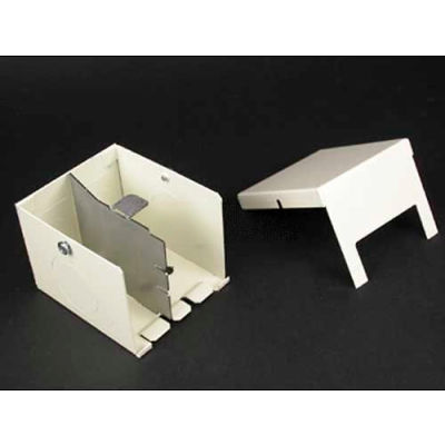 """Wiremold 2410D-FW Entrance End Fitting, Fog White, 3""""L"""