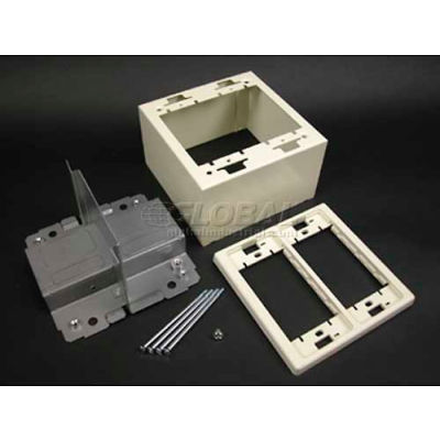 """Wiremold 2444d-2afw 2g Divided Device Box, Fog White, 4-3/4""""L"""