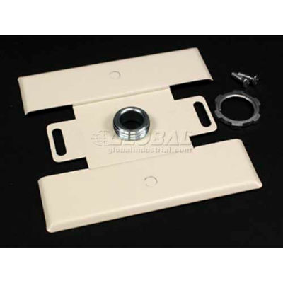 """Wiremold 2451h-Fw Back Feed Fitting-, Fog White, 4-1/2""""L"""
