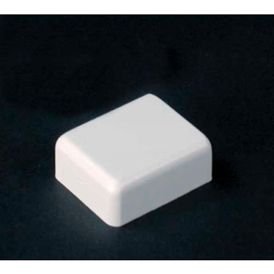 """Wiremold 2710b-Wh Blank End Fitting, White, 1""""L"""