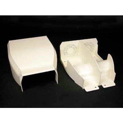 """Wiremold 40N2F21WH Divided Entrance End Fitting, White, 7-5/16""""L"""
