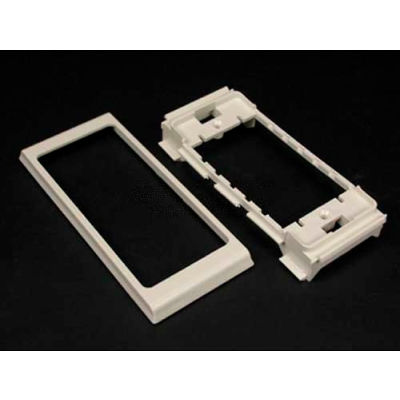 """Wiremold 40n2f31wh Twin Cover Device Bracket, White, 2-3/16""""L"""
