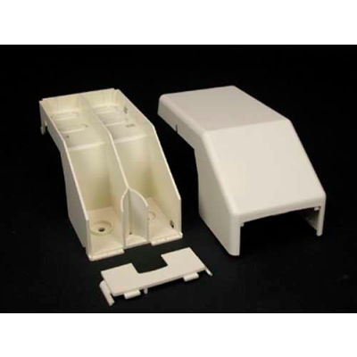 """Wiremold 40N2F74WH Transition Fitting to PN03, PN05, PN10, PN20, White, 6-1/8""""L"""