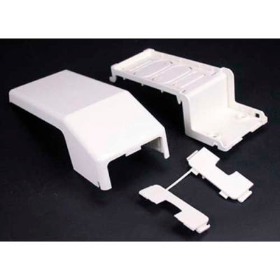 """Wiremold 5474-WH Transition Ftg 5400 to 400, 800, 2300 & PN Series Raceway, White, 7-9/16""""L"""