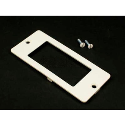 Wiremold 5507r-Wh Rectangular Receptacle Faceplate, White
