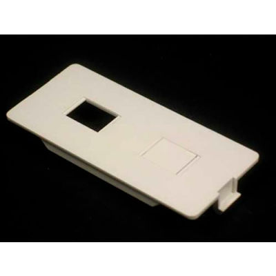 Wiremold 5507rj Dual Rj (1) Open, (1) Ko Faceplate, Ivory