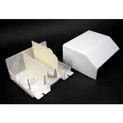 """Wiremold 5510D Divided Entrance End Fitting, Ivory, 6-7/8""""L"""