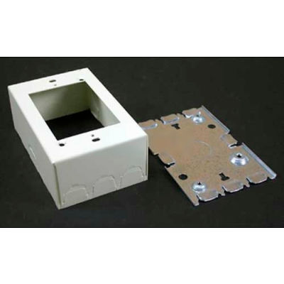 """Wiremold 5745wh Combination Switch & Recept. Box 1/2"""" Kos On Ends & Sides, White, 4-5/8""""L"""