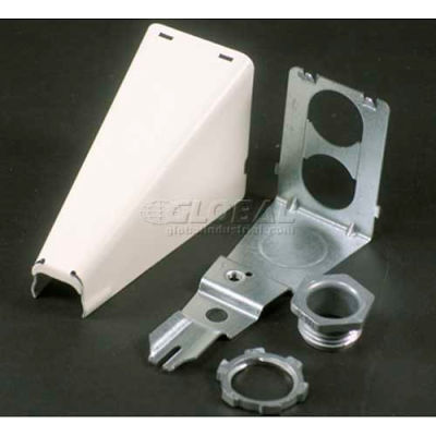 """Wiremold 5786wh Adjustable Offset Connector, White, 3-7/16""""L"""