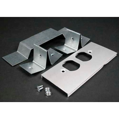 """Wiremold Al3346do Offset Duplex Receptacle Cover & Bracket For Divided Raceway, 6""""L"""