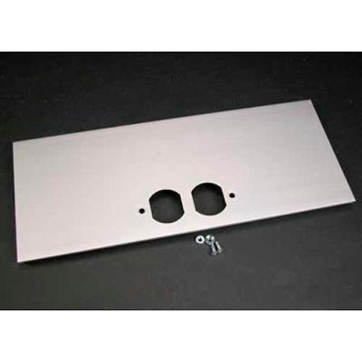 """Wiremold Al5246-D Duplex Cover Plate, 12""""L"""
