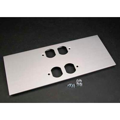 """Wiremold Al5246-Dd Double Duplex Cover Plate, 12""""L"""