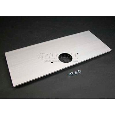 """Wiremold Al5246-F Single Receptacle (1-3/5"""" Dia) Device Plate, 12""""L"""