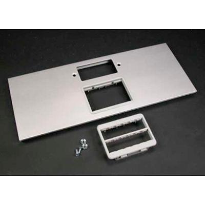 "Wiremold Al5256-Gmabrt Gfci & Rt Series Mab Adptr Bezel Cvr. Plate, Inc. Both Bezels,12""L - Pkg Qty 12"