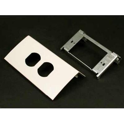 "Wiremold Ds4047d-Dv Single Channel Duplex Device, Designer Ivory, 6""L"