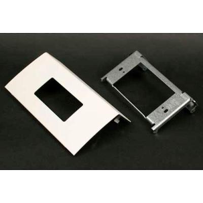 "Wiremold Ds4047r-Bk Single Channel Decorator Device, Matte Black, 6""L"