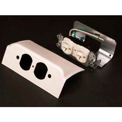 "Wiremold Dsdwndq-Dg Downward Dplx Device Plate, 1 Dplx Installed, Designer Gray, 6""L"