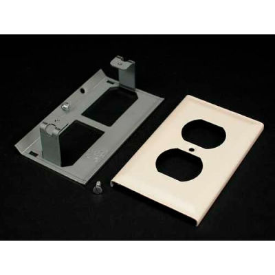 """Wiremold G3043be Duplex Receptacle Cover, Gray, 4-1/2""""L"""