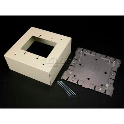 """Wiremold G3044-2 Extra Deep Switch & Receptacle Box (2-Gang), Gray, 6-3/8""""L"""