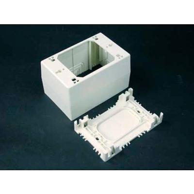 "Wiremold Nm2044 1-Gang Extra Deep Device Box, Ivory, 4-3/4""L"