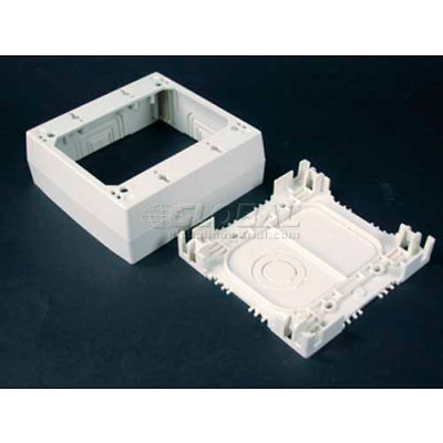 """Wiremold Nm2048-2 2-Gang Deep Device Box, Ivory, 4-3/4""""L"""