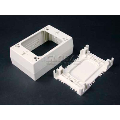"Wiremold Nm2048 1-Gang Deep Device Box, Ivory, 4-3/4""L"