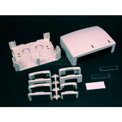 """Wiremold Pdb2cmwh Two Cm Modules Data Box, White, 3-3/4""""L"""