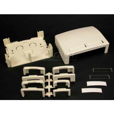 "Wiremold Pdb2s2wh Two Series 2 Modules Data Box, White, 3-3/4""L"