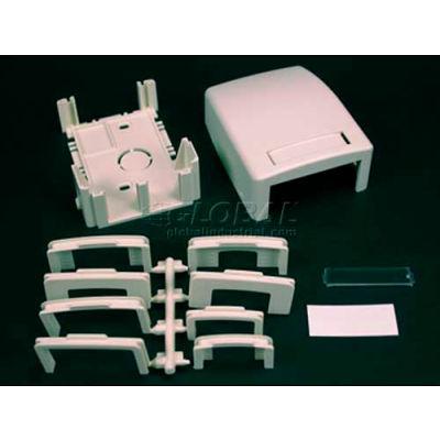 "Wiremold Pdb2tjv Two Tracjack Data Box, Ivory, 3-11/16""L"