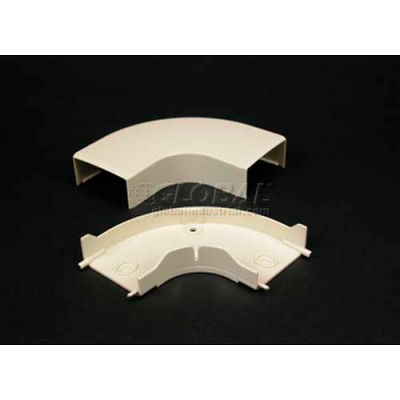 """Wiremold Pn05f11wh 90° Flat Elbow, White, 2-15/16""""L"""