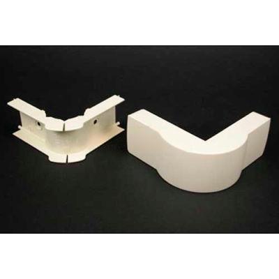 "Wiremold Pn05f19fw Fiberready External Elbow, Fog White, 3-1/8""L"