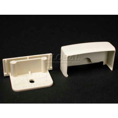 """Wiremold Pn05f20wh Blank End Fitting, White, 11/16""""L"""