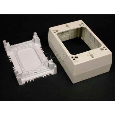 "Wiremold Psb1fw 1-Gang Device Box, Fog White, 4-3/4""L"