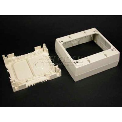 "Wiremold Psb2v 2-Gang Device Box, Ivory, 4-3/4""L"