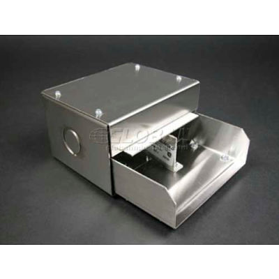 """Wiremold S4010D Entrance End Fitting W/Removable Divider, 6-3/8""""L"""