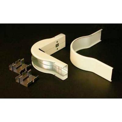 "Wiremold V2418dfo Divided Fiberready External Elbow, 5""L"