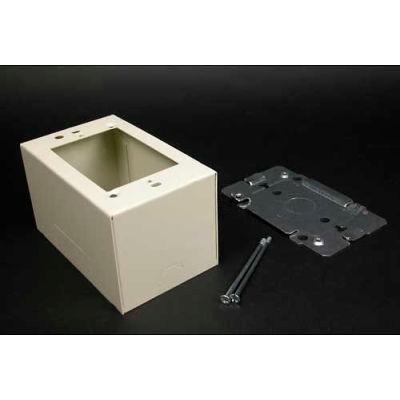 "Wiremold V2444 Single Gang Extra Deep Device Box, 4-5/8""L"