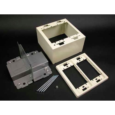 "Wiremold V2444d-2a 2-Gang Divided Device Box, 4-3/4""L - Pkg Qty 10"
