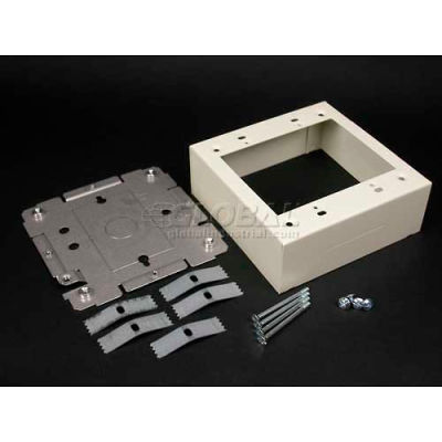 """Wiremold V2448-2 Switch & Receptacle Box 2-Gang W/Extension Base KO, 4-3/4""""L"""