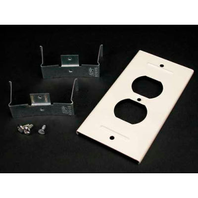 """Wiremold V3046be Duplex Receptacle Cover, Ivory, 5-3/8""""L"""