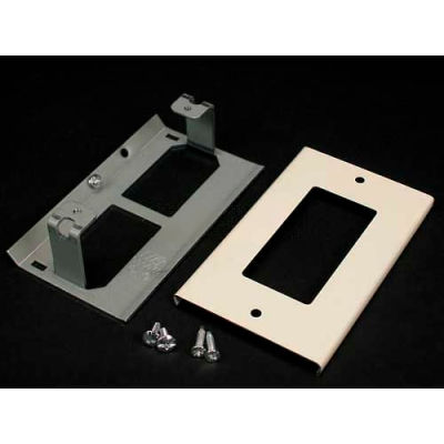 """Wiremold V3048r Rectangular Receptacle Cover, Ivory, 4-1/2""""L"""